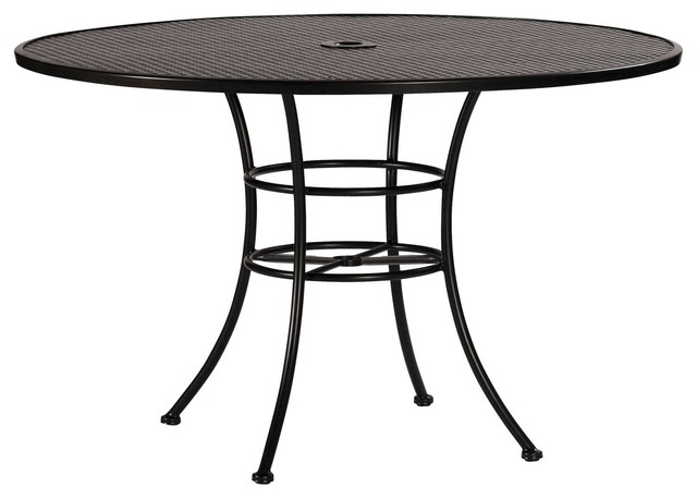 Wrought iron mesh table base table tops and bases for Outdoor table bases wrought iron