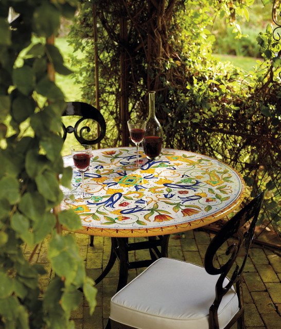 Pisa Hand-Painted Table Top Venetian Chair in Black.jpg eclectic-outdoor-dining-tables