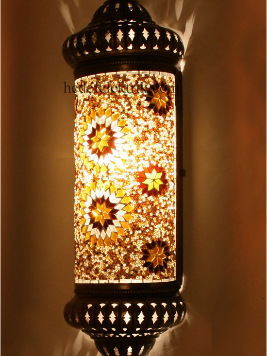 Half Ottoman Style Mosaic Lighting Wall Sconce - Code: HD-20003_18