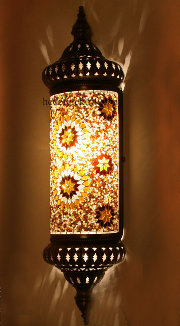 Half Ottoman Style Mosaic Lighting Wall Sconce
