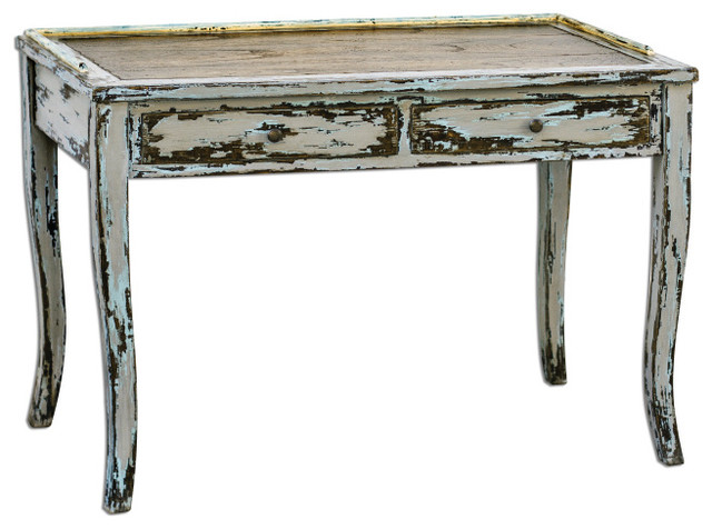distressed writing desk Shop the latest distressed white desks on the world's largest fashion site.