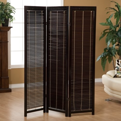 CK Group Tranquility Wooden Shutter Screen Room Divider in Black - Modern - Screens And Room ...