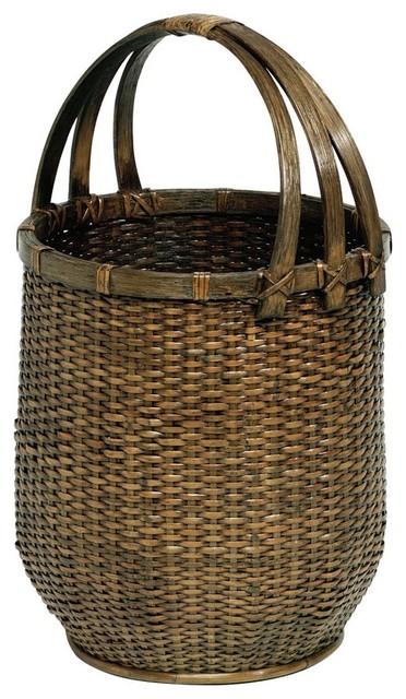 tall floor basket traditional-baskets