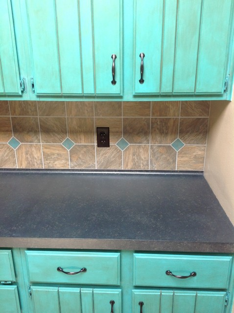 Countertop Chalkboard Paint : Chalk paint kitchen makeover - Traditional - Kitchen - houston - by ...