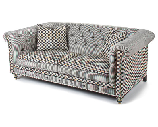 Courtly Check Underpinnings Chesterfield - 88"