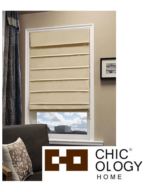 None - Chicology Sahara Sandstone Roman Window Shade - Create rich texture and warmth in any room with this 100-percent cotton roman shade. Perfect for any window or door in your home or office,this window shade is durable and easy to install. Complete with a built-in valance to give you a finished look.
