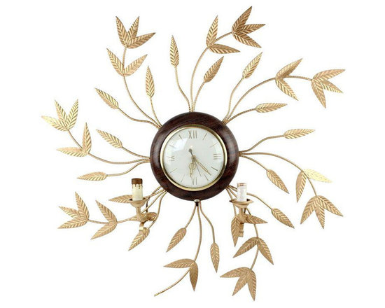 Vintage Gold Leaf Clock - $225 Est. Retail - $150 on Chairish.com -