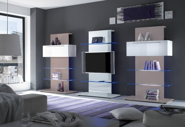 Modern tv stand and tower primo by lc mobili italy for Primo design mobili