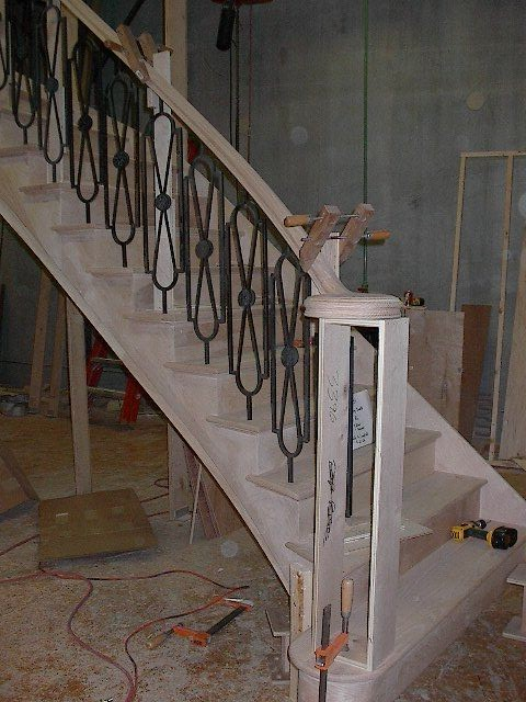 Our Shop and Job Site Photos staircase