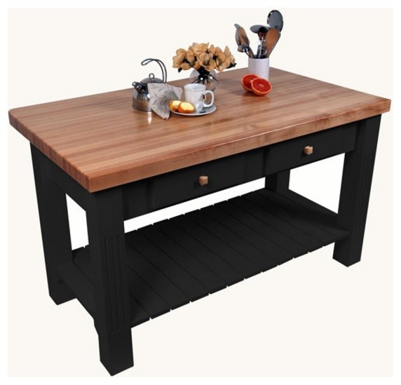 "Grazzi Kitchen Island with 8"" Drop Leaf by John Boos - traditional"