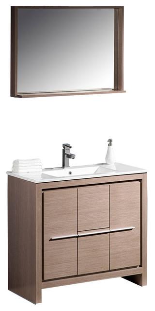Fresca Allier 36 Modern Bathroom Vanity Grey Oak Modern Bathroom