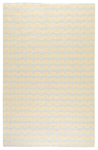 Frontier Pale Blue Hand Woven Wool Rug contemporary-kids-rugs