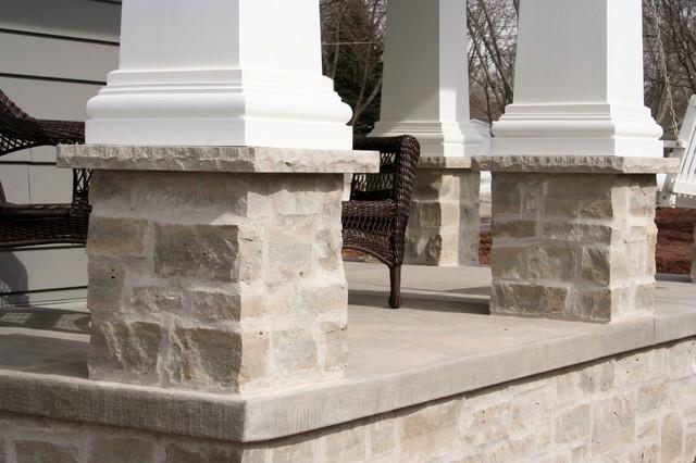 natural stone veneer exterior columns