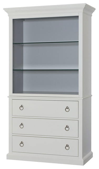 Hammary Hidden Treasures White Bookcase - Transitional - Bookcases - by Beyond Stores