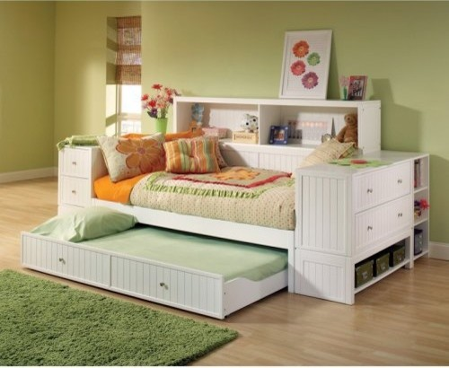 Cody Bookcase Storage Daybed traditional-day-beds-and-chaises