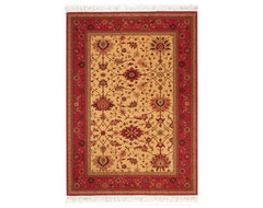Couristan Gem Khorasan Oriental Rug - Brick Red traditional-rugs