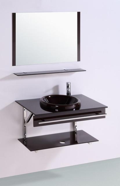 Glass Bathroom Vanities contemporary-bathroom-vanities-and-sink-consoles