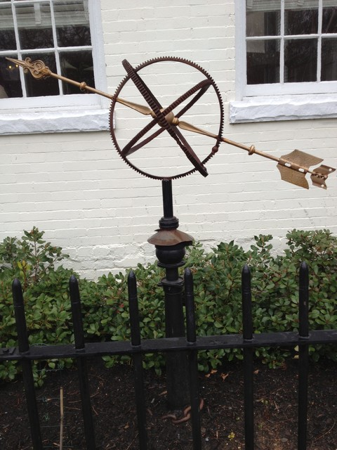 Found Object Composition Garden Armillary Sphere eclectic-garden-statues-and-yard-art