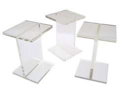 Gus* Modern - Acrylic I-Beam Table modern side tables and accent tables