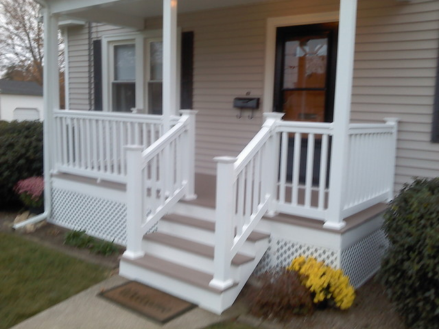 Front Porch and Deck - Traditional - Porch - providence - by KNM Construction