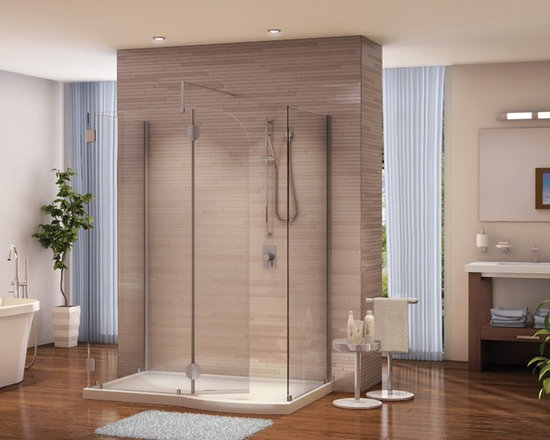 Fleurco Evolution 5' and 6' Walk-In Shower System with Return and Fixed Panel V5 -