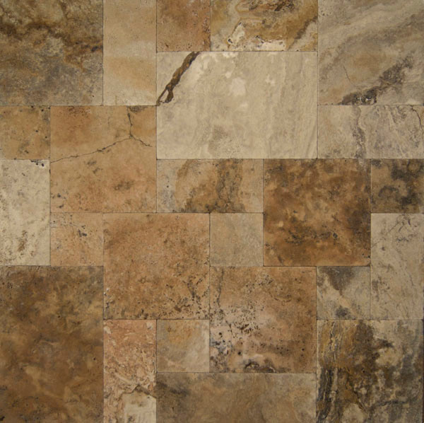Travertine wall-and-floor-tile