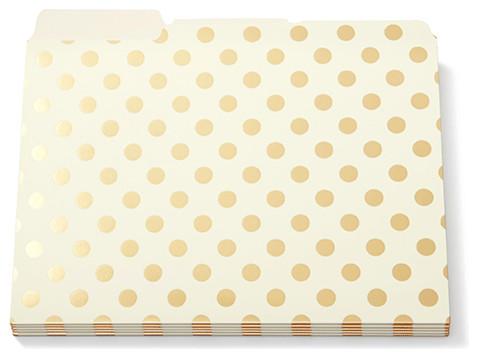 Kate Spade Gold Dots File Folders - Contemporary - Desk Accessories ...