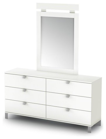 Sparkling 6 Drawer Dresser modern-dressers-chests-and-bedroom-armoires