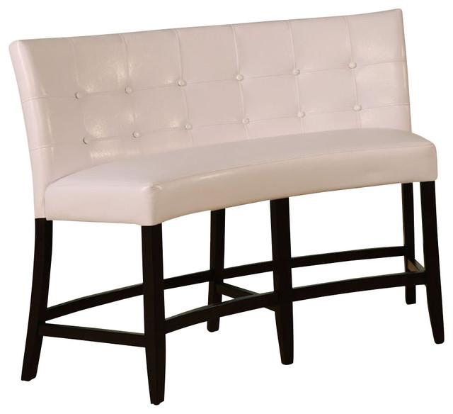 White Banquette: Modus Bossa Counter Height Leatherette Banquette