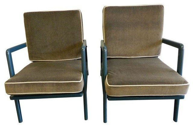Mid century lounge chairs a pair modern outdoor chaise lounges by chairish - Mid century chaise lounge chair ...