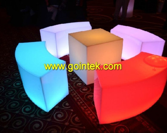 cube chair with recharegabel battery -