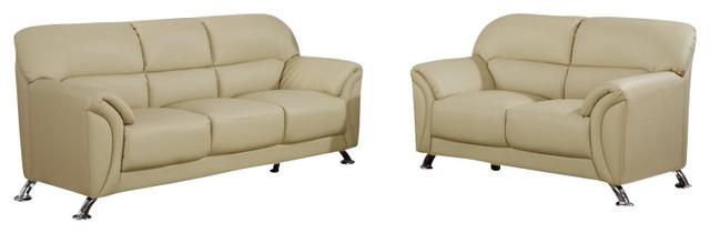 U9103 Cappuccino Vinyl Material Three Piece Sofa Set modern-living-room-furniture-sets