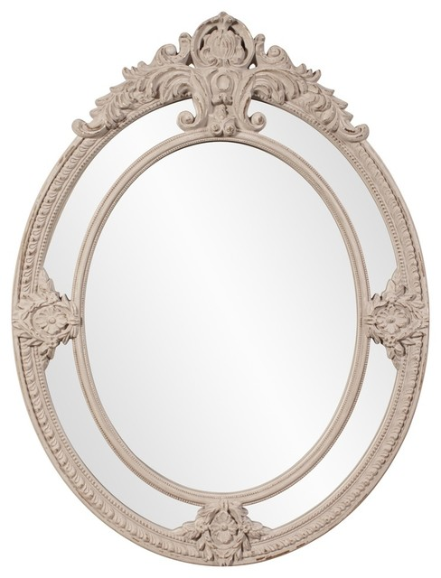 Penelope Oval Mirror traditional-mirrors