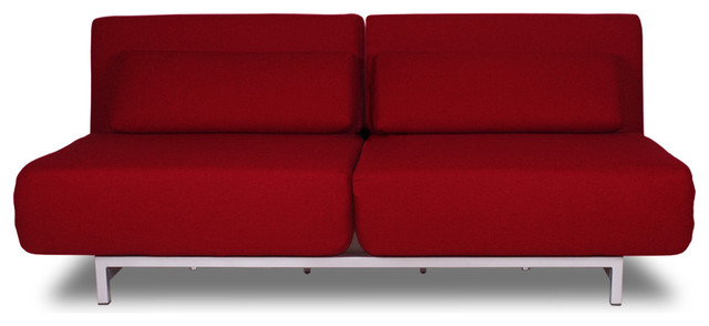 Copperfield Red Sofa Sleeper Modern Sofas