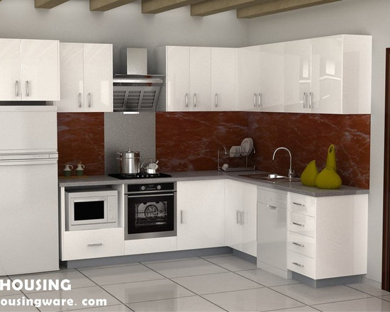 kitchen cabinet 009 - design free, customized, top quality, with bench top and top stainless steel sink