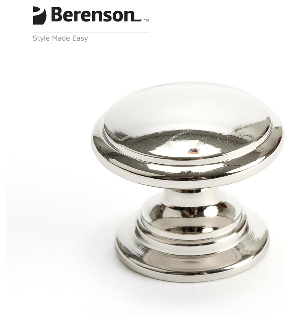 4145-1014-P Polished Nickel Knob by Berenson Hardware ...