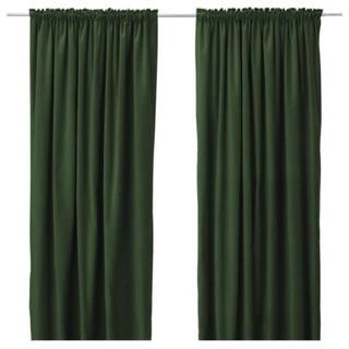 IKEA dark green curtains - Curtains