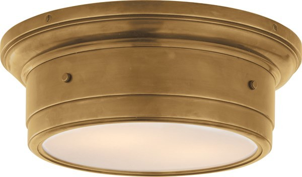 Westmenlights Vintage Small Ceiling Light Flush Mount: Visual Comfort Small Siena Flush Mount, Hand-Rubbed