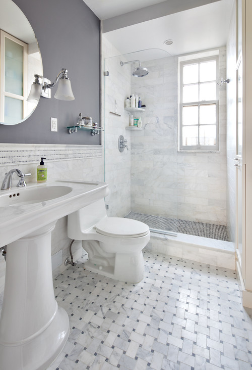 Can glass blocks be used as a window in the shower for Houzz com bathroom tile