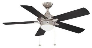 Indoor Fan and Light Kit: Hampton Bay Ceiling Fan. Edgemont 52 in. Colonial Pewt - Contemporary ...
