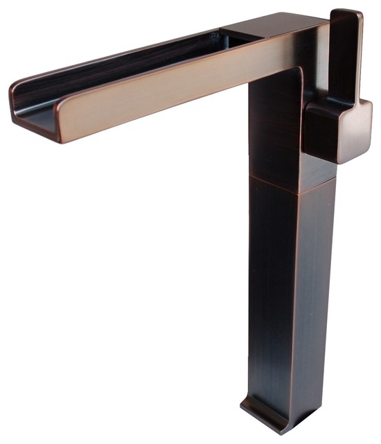 Eden Bath FM001VRB Cascada Waterfall Vessel Faucet - Oil Rubbed Bronze traditional-bathroom-faucets-and-showerheads
