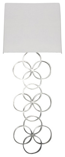 Worlds Away Harriet Wall Sconce, Silver Leaf contemporary-wall-sconces