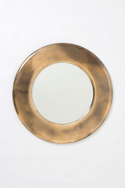 Antiqued Round Mirror contemporary-wall-mirrors