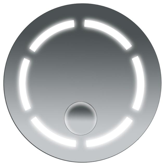 Fog Free Bathroom Steam Spa Round Mirror traditional-bathroom-mirrors