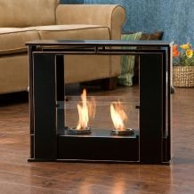 Wesley Indoor/ Outdoor Portable Fireplace contemporary-fire-pits