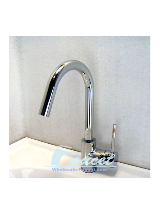 http://www.wholesale-faucet.com/products-826-Single-Lever-Chrome-Kitchen-Faucet- - Features: