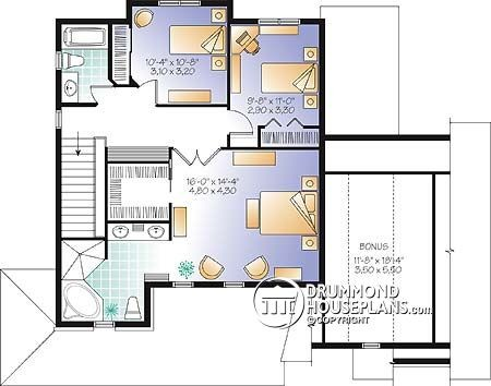 Traditional home 3862-V1 by Drummond House Plans traditional-bedroom