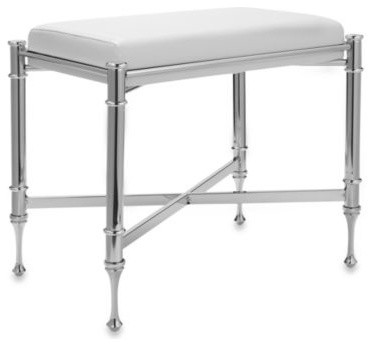 Taymor Chrome Vanity Stool Contemporary Vanity Stools And Benches By Bed Bath Beyond