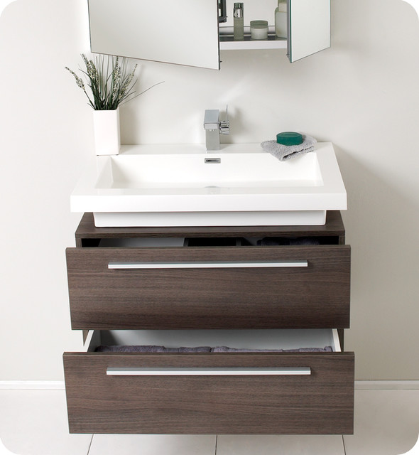Reclaimed Wood Floating Vanity Wood vanity Sinks and Vanities