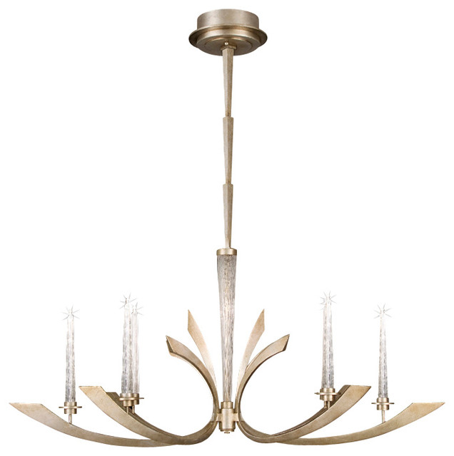 Crescents Warm Toned Silver Chandelier, 812640-2ST transitional-chandeliers